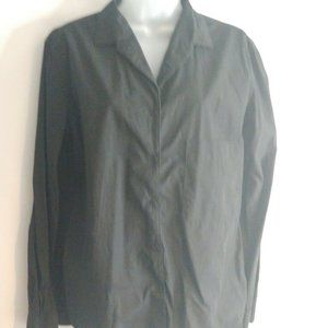 Uniqlo & Lemaire Women Shirt Medium Black Button